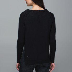 Lululemon Athletica Back Yin to You Merino Sweater